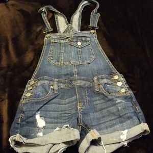 Blue Jean Shorts Coveralls